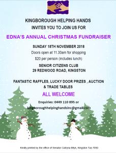 Christmas Fundraiser.Kingborough Helping Hands Christmas Fundraiser Kingborough