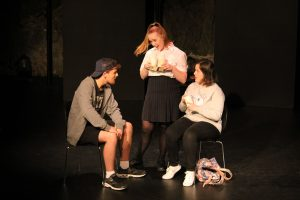 Students acting with O'Grady Drama