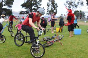 Photo of kids using crazy bikes