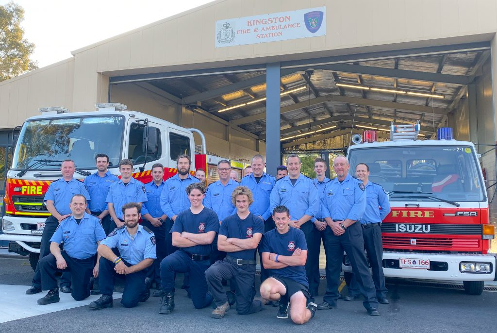 Photo of the Kingborough Community Group of the Year 2020, Kingston Volunteer Fire Brigade