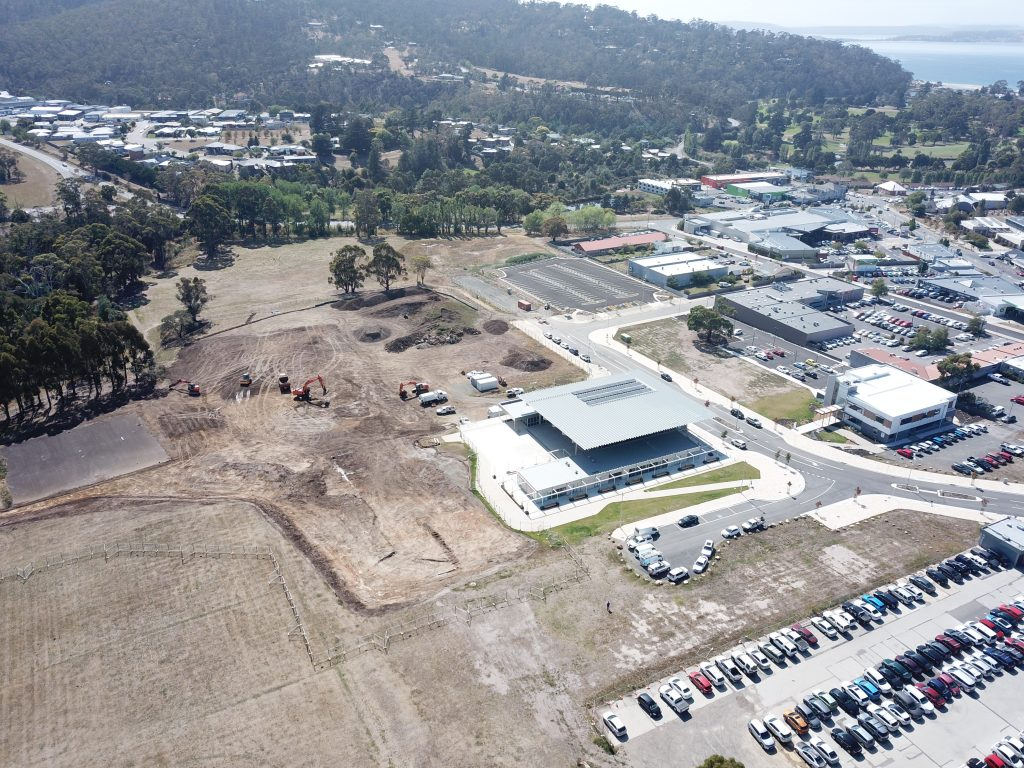 Aerial photo of the Kingston Park site