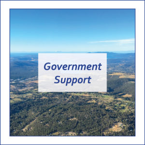 Button to take you to the Tasmanian Coronavirus website