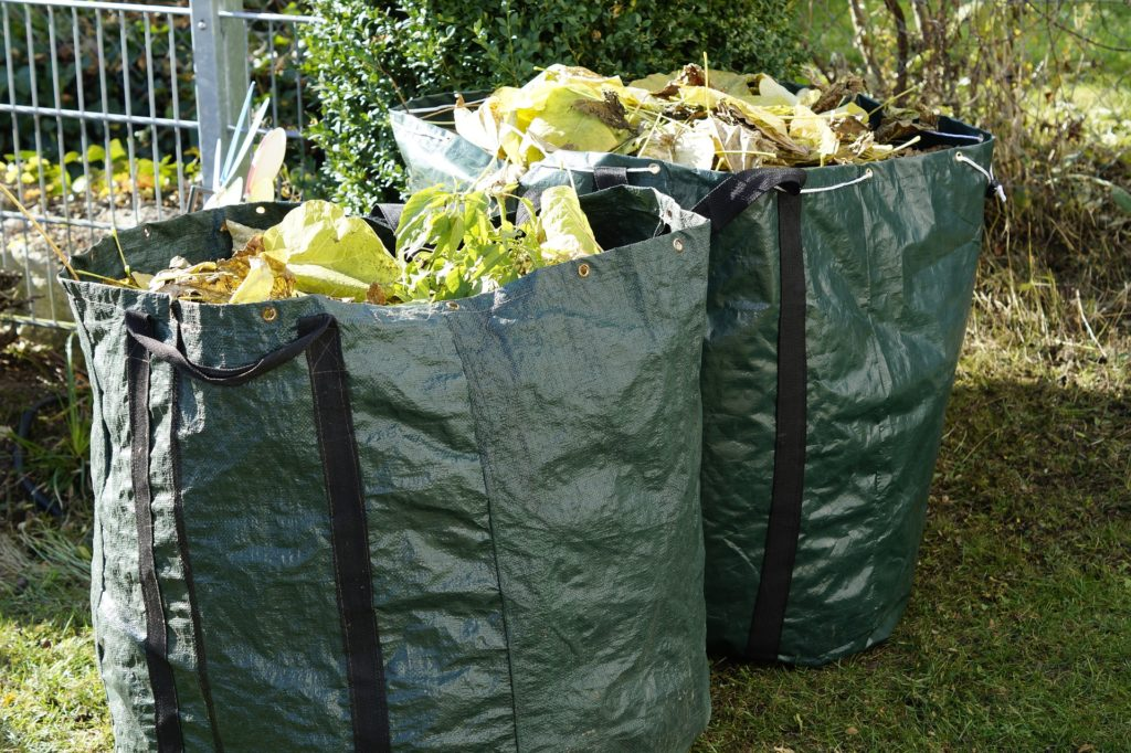 Photo of two bags of green waste