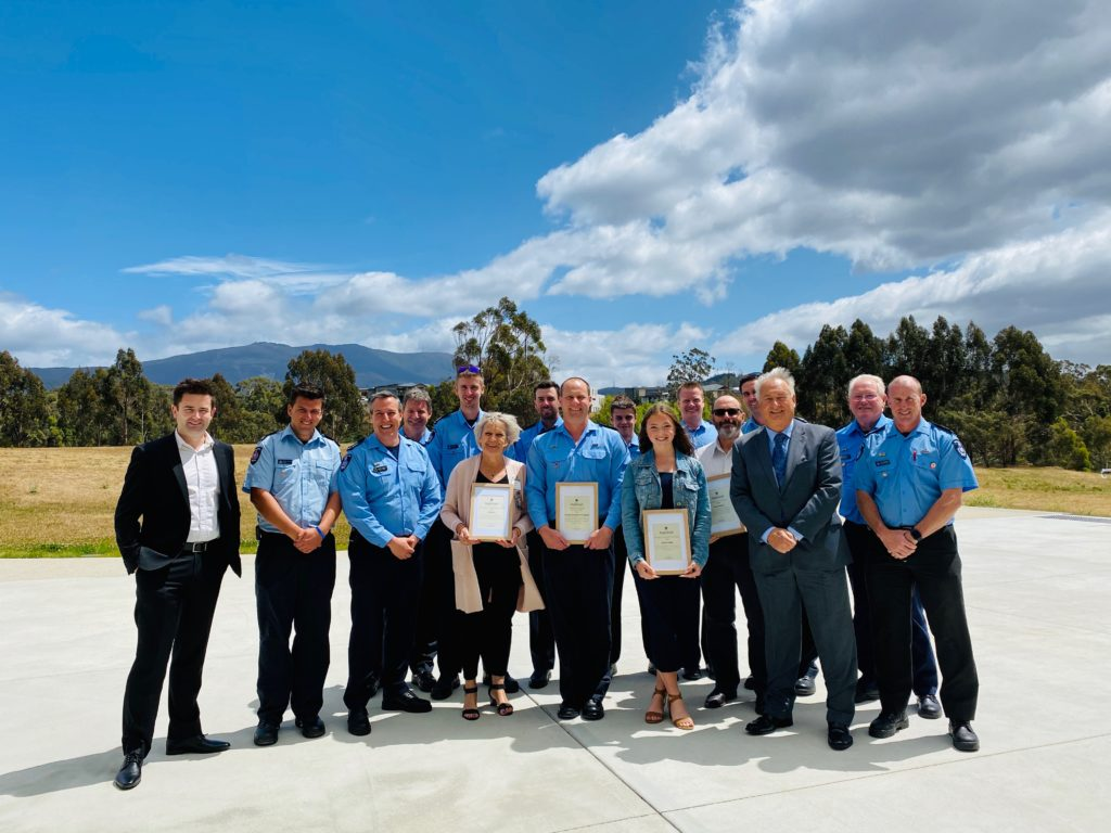 Photo of the Kingborough Award winners for 2020 at the Kingborough Community Hub