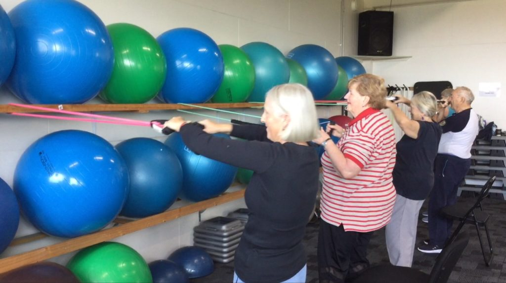 Photo of the Staying Active class at the Fitness Centre