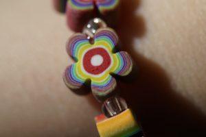 Photo of polymer flower bracelet