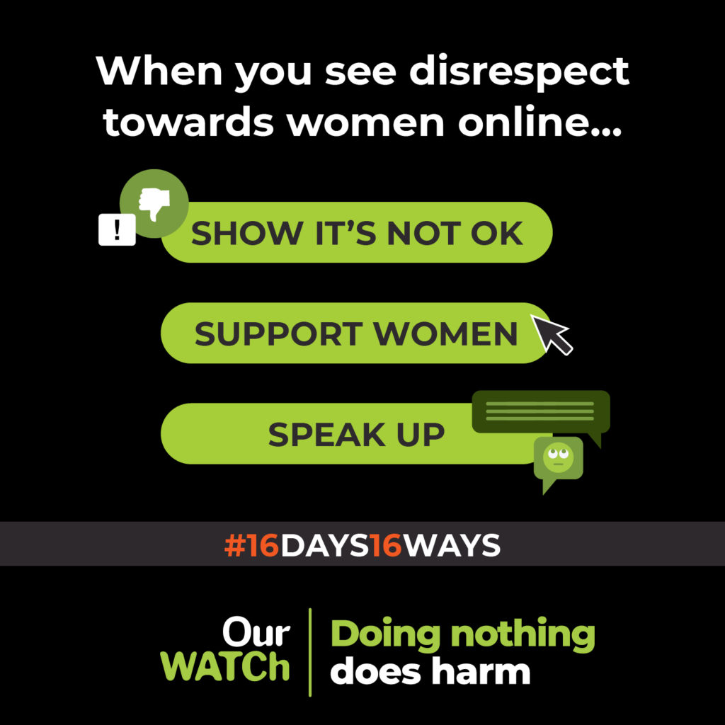 Graphic for doing nothing causes harm campaign